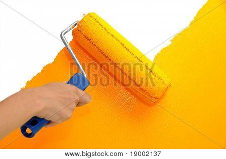 Pintura de la pared - naranja