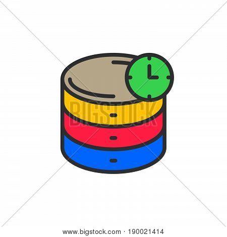 Database backup filled outline icon vector sign colorful illustration