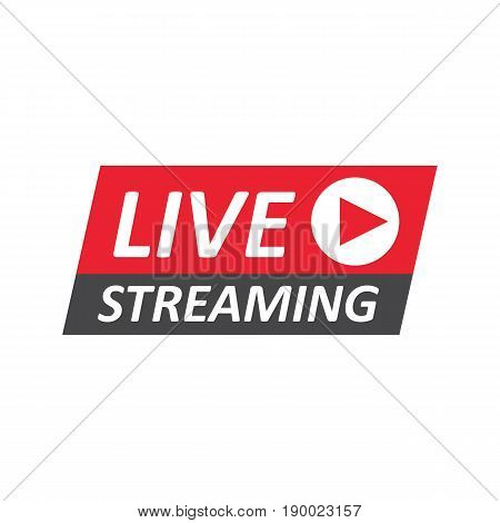 Live Stream sign emblem logo. Vector Illustration