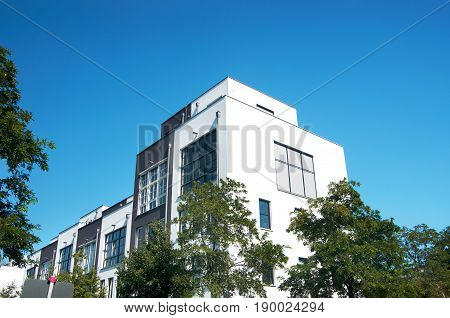 modern town houses apartment buildings in berlin germany