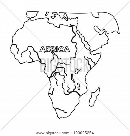 Territory of Africa.African safari single icon in outline style vector symbol stock illustration .