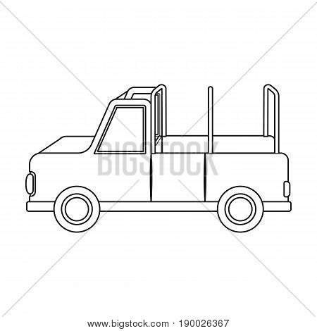 Machine for safari.African safari single icon in outline style vector symbol stock illustration .