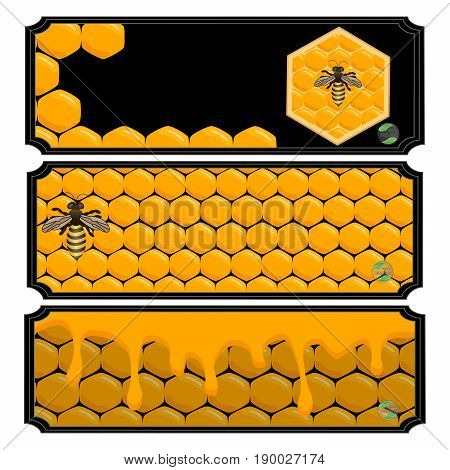 The Vector Shows Beehive Honey Nectar Hive Swarm Winged Bee Honeycomb Wax Private Apiary Beekeeper Beeswax
