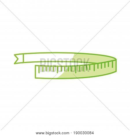silhouette measuring meter to size the body vector illustration