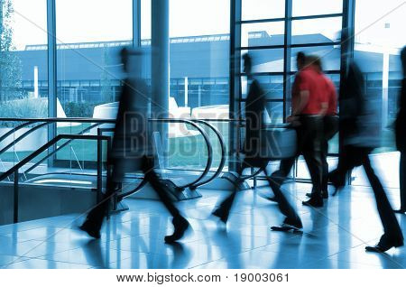 Business people in movement