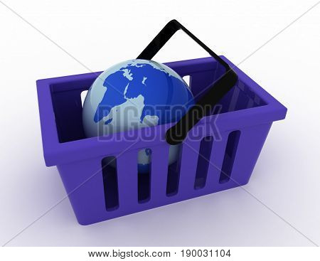 3d of World commerce checkout icon . rendered illustration
