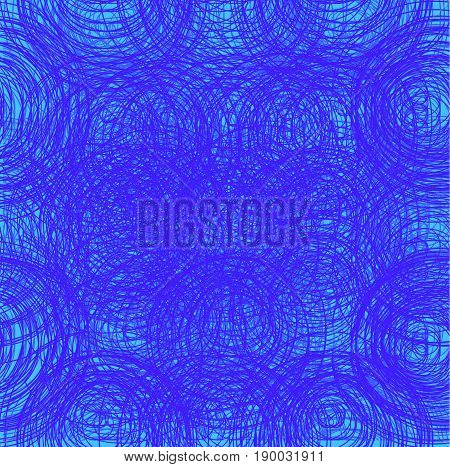 Abstract thread background. Seamless texture. Blue threads VECTOR template