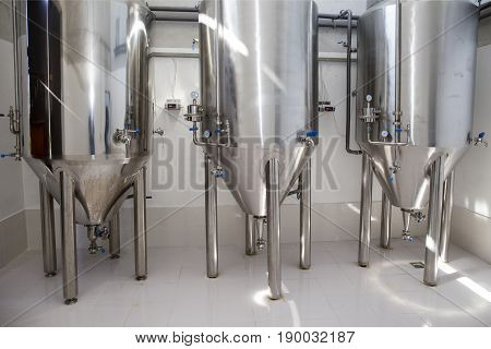 Part of a small brewery,craft beer production