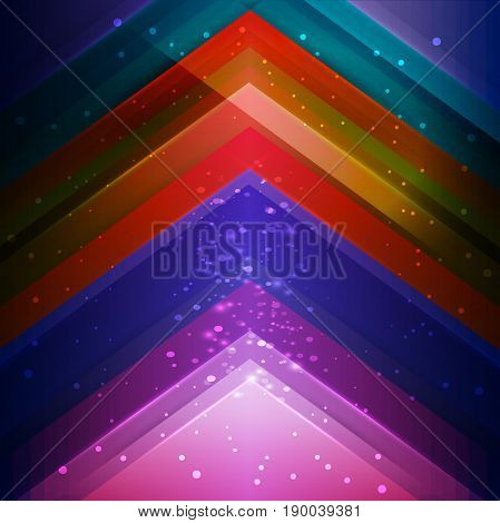 Creative rainbow background with glitter and lights, Abstract illustration for any type of advertizing and presentations.