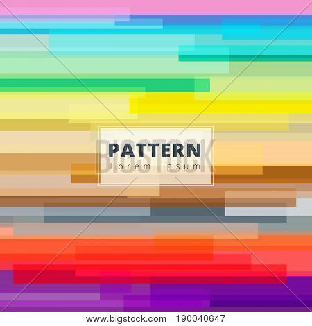 Abstract image colorful horizontal rectangle overlap pattern geometry vector background for print ad brochure poster leaflet magazine