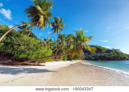 Anse Takamaka beach on Mahe island, Seychelles