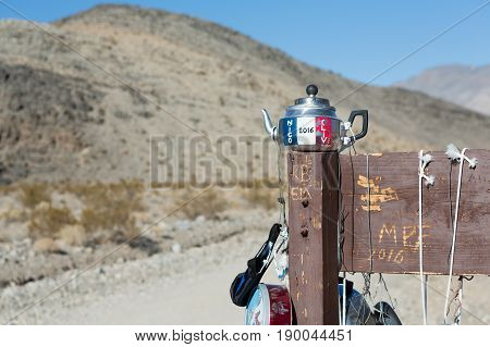 Teakettle Junction On The Way To Racetrack Playa, Death Valley National Park, California