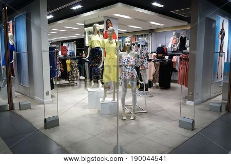 Clothes Are Displayed For Customers