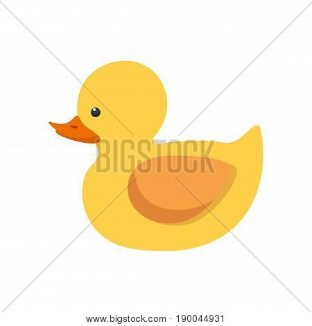 Ducky toy isolated icon vector illustration graphic design