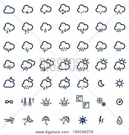 Set With Weather Icons