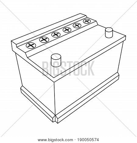 For automobile battery.Car single icon in outline style vector symbol stock illustration .