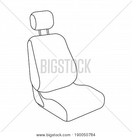 Car seat.Car single icon in outline style vector symbol stock illustration .
