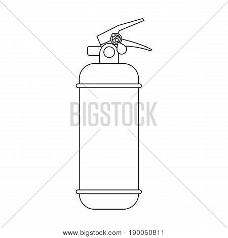 Fire extinguisher powder.Car single icon in outline style vector symbol stock illustration .