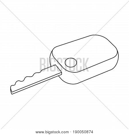Car key.Car single icon in outline style vector symbol stock illustration .