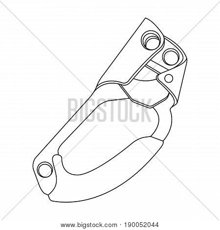 Clamp jumar.Mountaineering single icon in outline style vector symbol stock illustration .