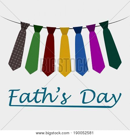 The father's Day. Garland of a ties