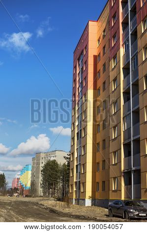 New Houses In Polyarnye Zori ,russia