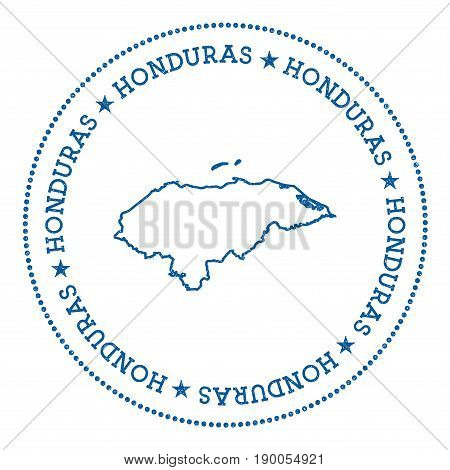 Honduras Vector Map Sticker. Hipster And Retro Style Badge With Honduras Map. Minimalistic Insignia