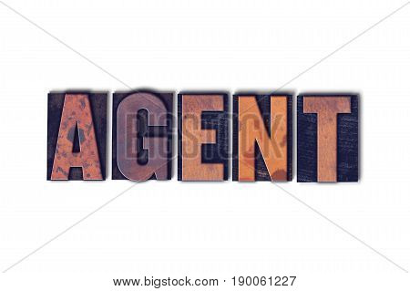 Agent Concept Isolated Letterpress Word