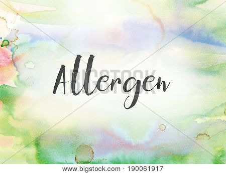 Allergen Concept Watercolor And Ink Painting