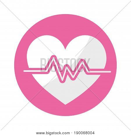 sticker heartbeat to know rhythm cardic and frequency vector illustration