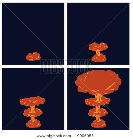 Cartoon Explosion Effect With Smok