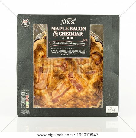 Tesco Finest Maple Bacon And Cheddar Quiche.