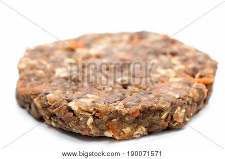 Lentil Burger Preparation : Raw lentils burger patty