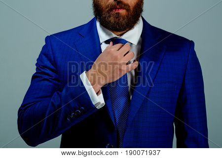 Outfit Or Formal Suit Of Jacket And Tie On Man