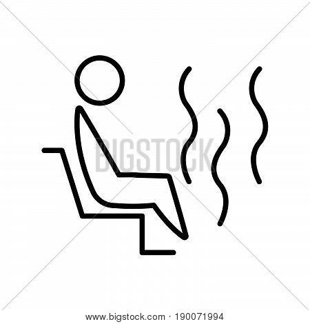 Simple thin line sauna cartoon icon vector