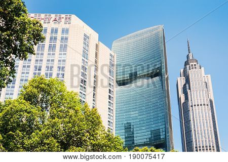 Green Trees And Appartment Buildings In Guangzhou