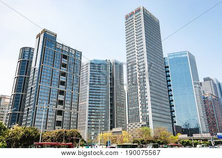 Buildings In Modern District Of Guangzhou City