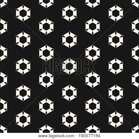 Vector seamless pattern. Rippled hexagonal shapes. Monochrome pattern. Abstract geometric texture of perforated surface. Design pattern, decor pattern, package texture.