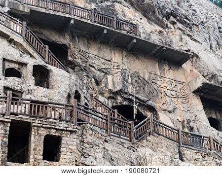 Caves And Rooms In Longmen Grottoes