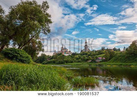 Borisoglebsky Monastery And Tvertsa River, Torzhok, Russia