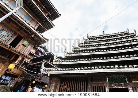 Pagoda And Market In Centre Of Chengyang