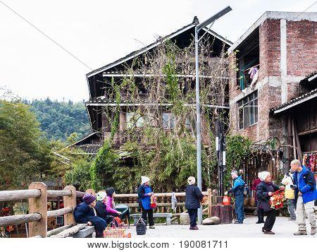 Sellers In Folk Custom Centre Of Chengyang Village