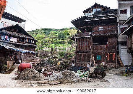 Yard Of Residential Houses In Chengyang Village