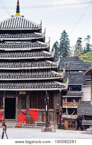 Pagoda In Folk Custom Centre Of Chengyang