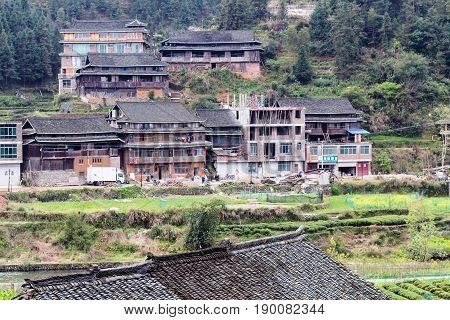 Country Houses In Chengyang Village And Gardens