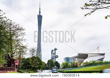 Opera House And Guangzhou (canton) Tv Tower