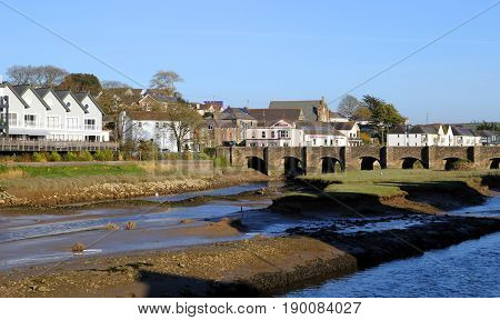 Wadebridge, Cornwall, Uk - April 6Th 2017: The Old Bridge At Wadebridge, Built In The 15Th Century,