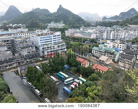 View Of Guilin City From The Solitary Beauty Hill