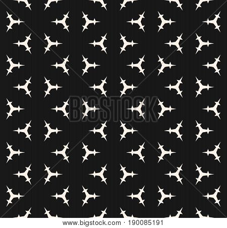 Vector seamless pattern. Minimalist monochrome geometric background. Triangular prickly shapes pattern. Abstract endless background. Design pattern, prints pattern, textile pattern, fabric pattern, cloth pattern, covers pattern.