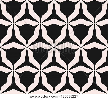 Geometric monochrome texture vector. Seamless pattern. Simple shapes pattern. Angular figures pattern. Triangular grid pattern. Abstract repeat background. Tileable pattern, embossing pattern, home decor pattern, textile pattern, fabric pattern
